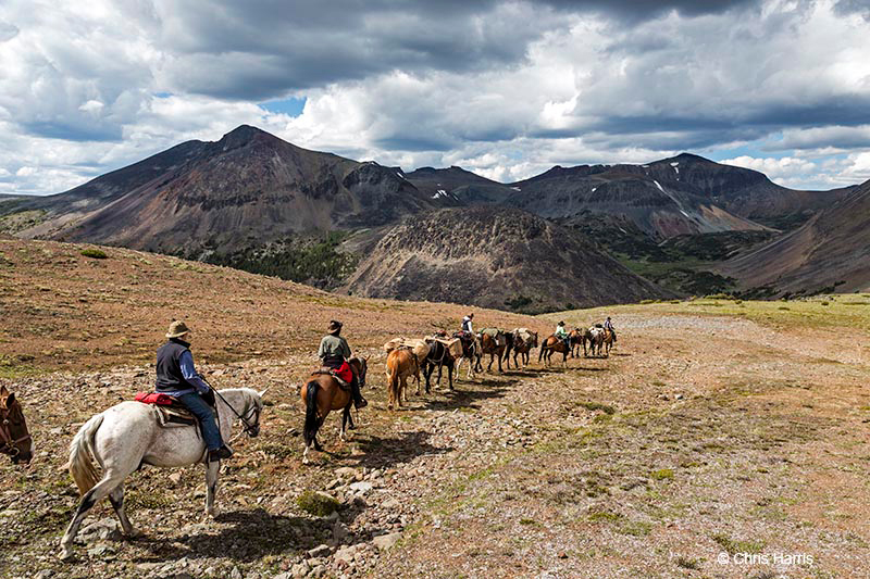 Riding in the Itcha-Ilgachuz mountains of British Columbia's Chilcotin area